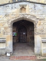 Entrance to Church at Dorchester Abby